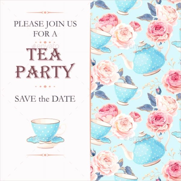 Tea Party Invitation Template Lovely 9 Tea Party Invitation Templates Free Download