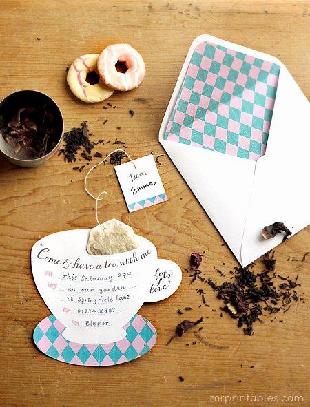 Tea Party Invitation Template Luxury Printable Tea Party Invitations Mr Printables