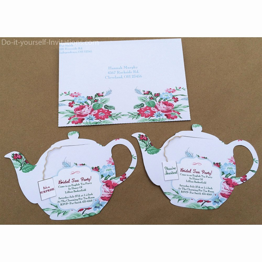 Tea Party Invitation Template Unique Printable Tea Party Invitation Bridal Tea Party Invitation