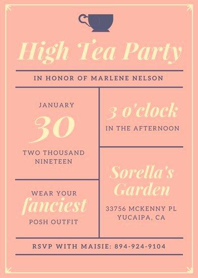 Tea Party Invite Template Beautiful Customize 3 999 Tea Party Invitation Templates Online Canva