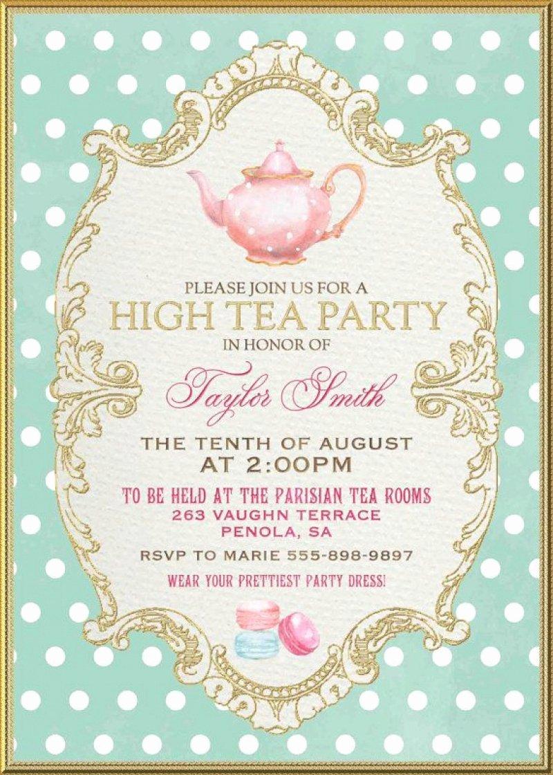 Tea Party Invite Template Beautiful High Tea Party Invitation – orderecigsjuicefo