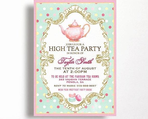 Tea Party Invite Template Beautiful Items Similar to High Tea Invitation for Kitchen Tea Tea