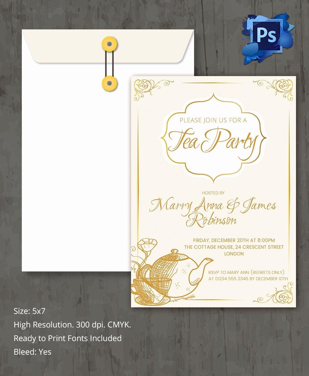 Tea Party Invite Template Best Of 22 Tea Party Invitation Templates