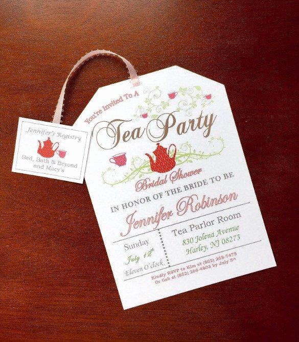 Tea Party Invite Template Fresh 41 Tea Party Invitation Templates Psd Ai