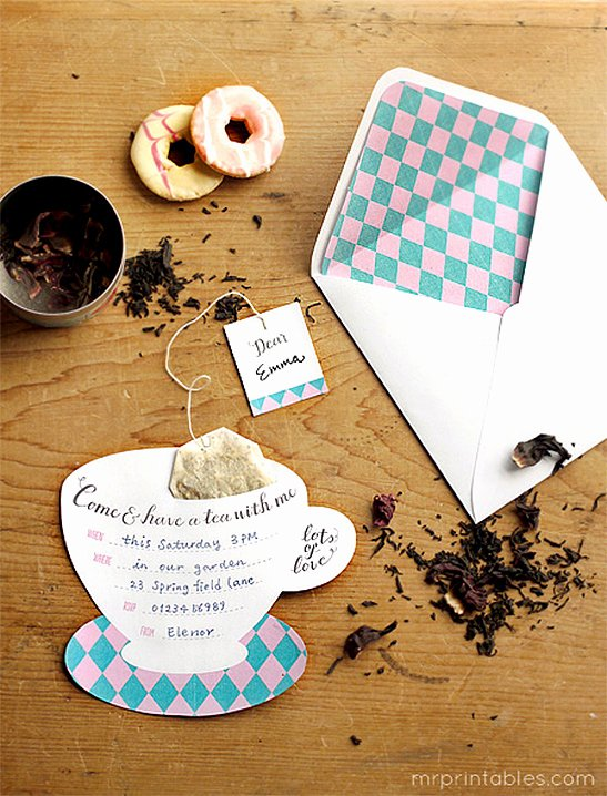 Tea Party Invite Template Inspirational Printable Tea Party Invitations Mr Printables