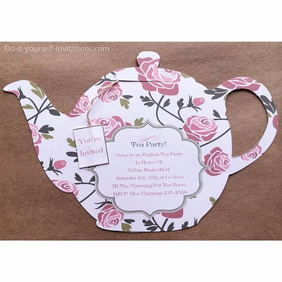 Tea Party Invite Template New 84 Best Diy Bridal Shower Invitations Images On Pinterest