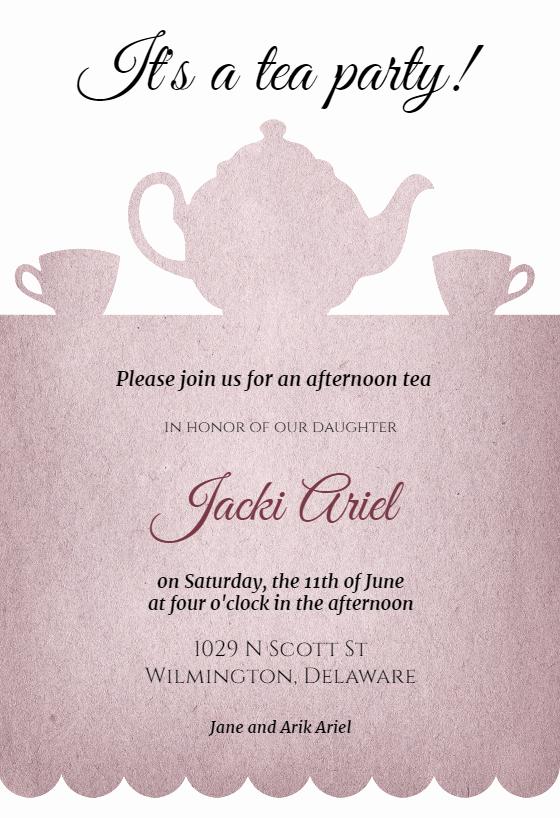 Tea Party Invite Template New Tea Party Free Bridal Shower Invitation Template