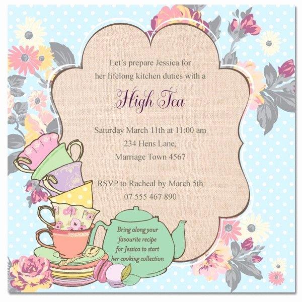 Tea Party Invite Template Unique Tea Invitation Templates
