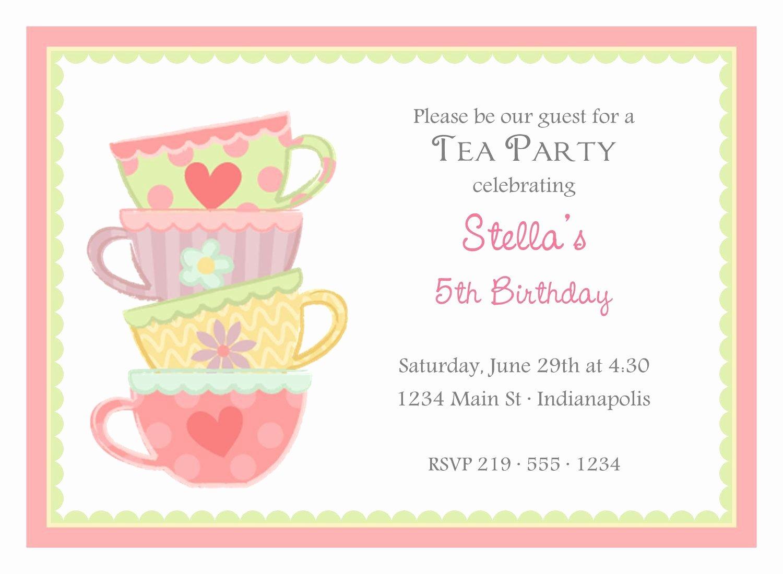 Tea Party Invite Template Unique Tea Party Invitation Template Google Search
