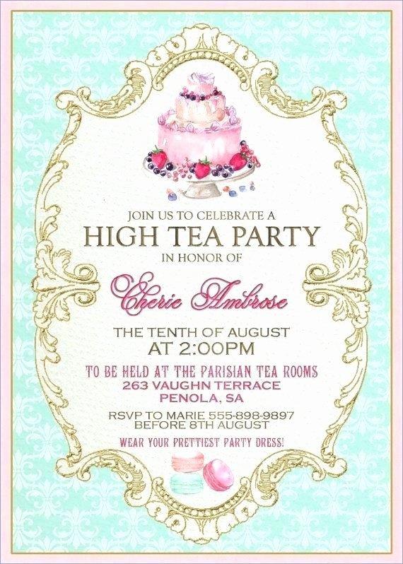 Tea Party Menu Template Awesome afternoon Tea Menu Template – Onairprojectfo