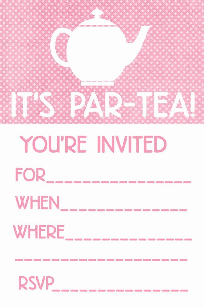 Tea Party Menu Template Awesome Little Girl Tea Party Menu Ideas