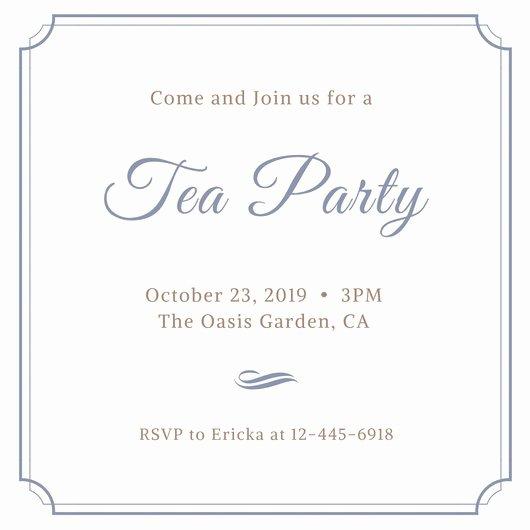Tea Party Menu Template Beautiful Customize 128 Tea Party Invitation Templates Online Canva