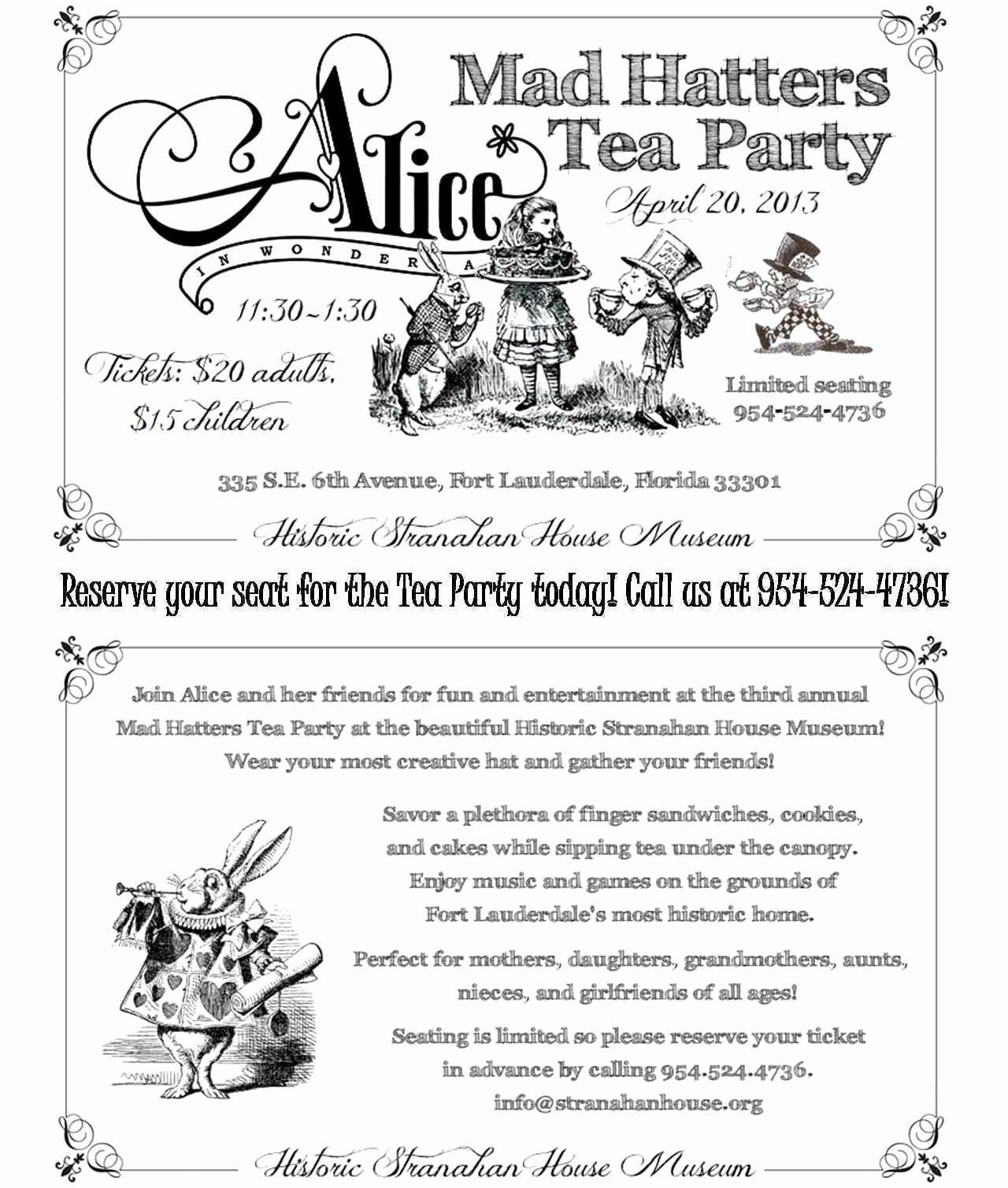 Tea Party Menu Template Beautiful Mother Daughter Tea Invitation Wording