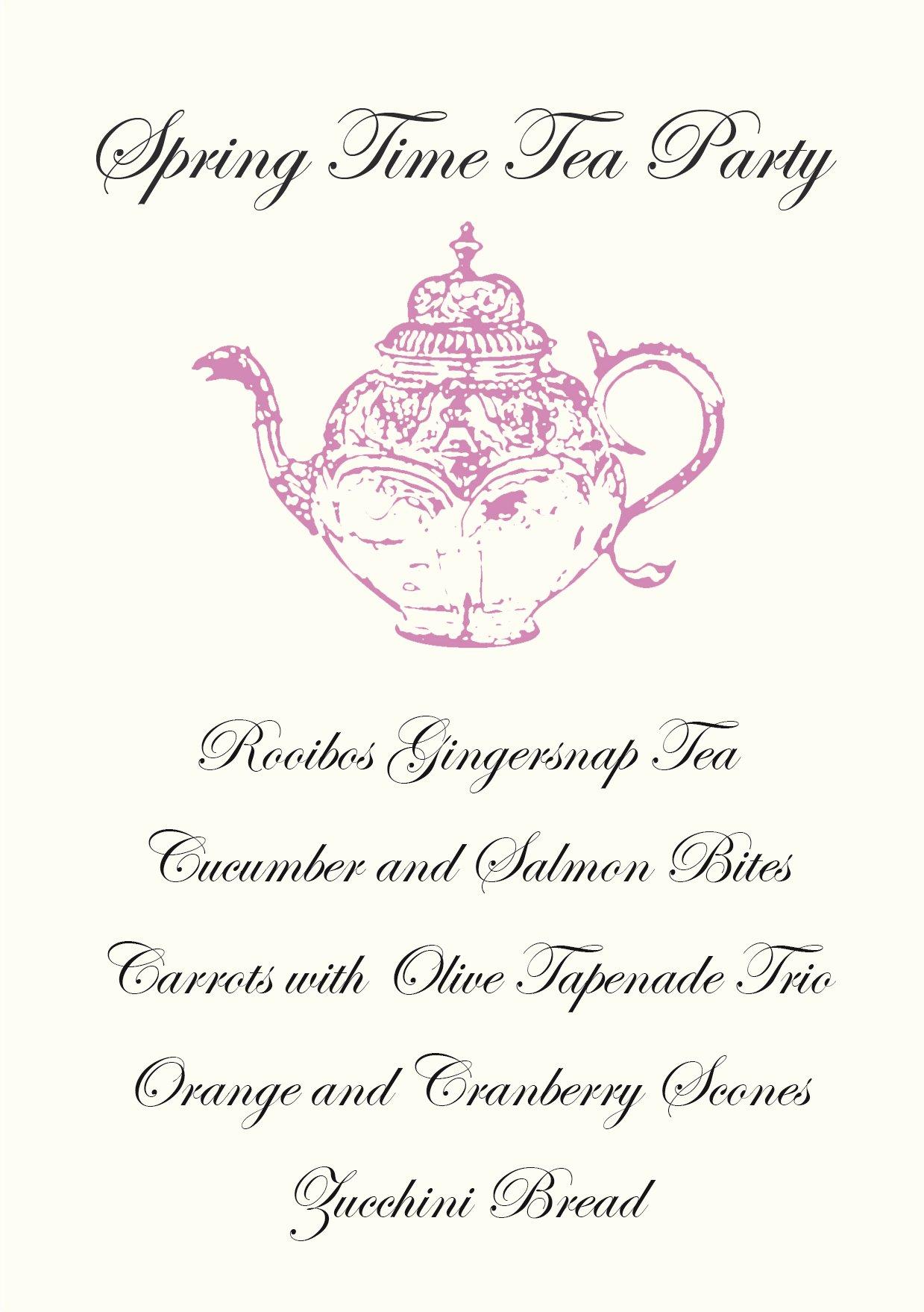 Tea Party Menu Template Fresh Gather Menus Primal Palate