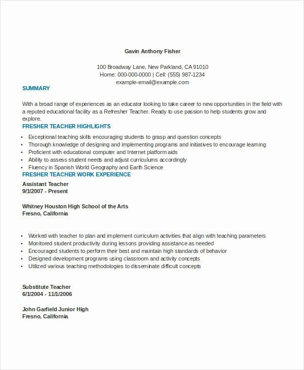 Teacher Curriculum Vitae Template New 29 Basic Teacher Resume Templates Pdf Doc