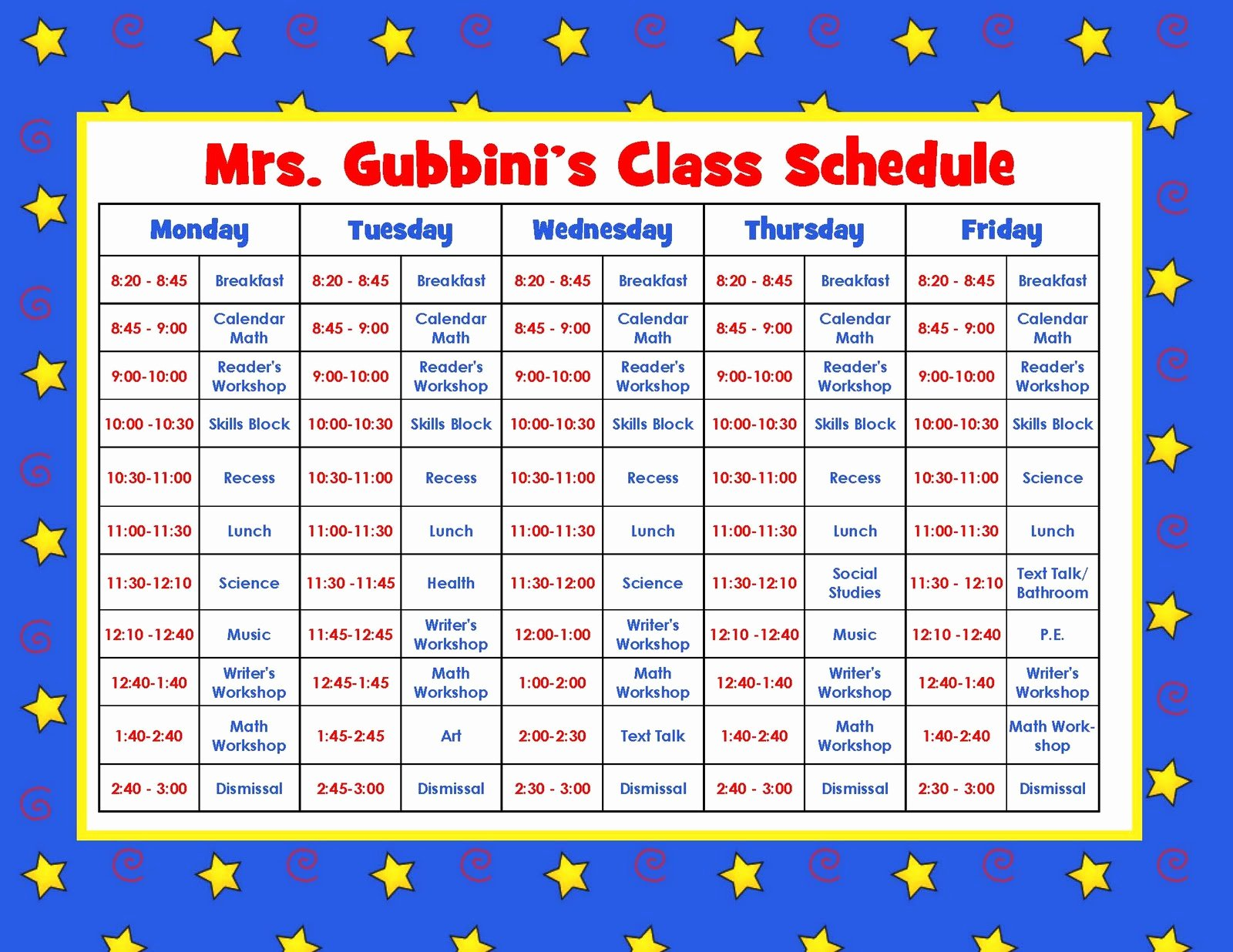 Teacher Daily Schedule Template Best Of Aloha Kindergarten July 2011