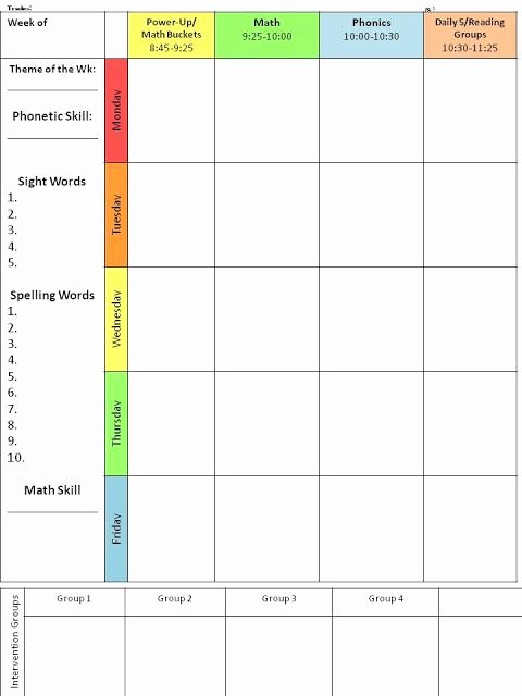 Teacher Daily Schedule Template Fresh 17 Best Ideas About Daily Schedule Template On Pinterest