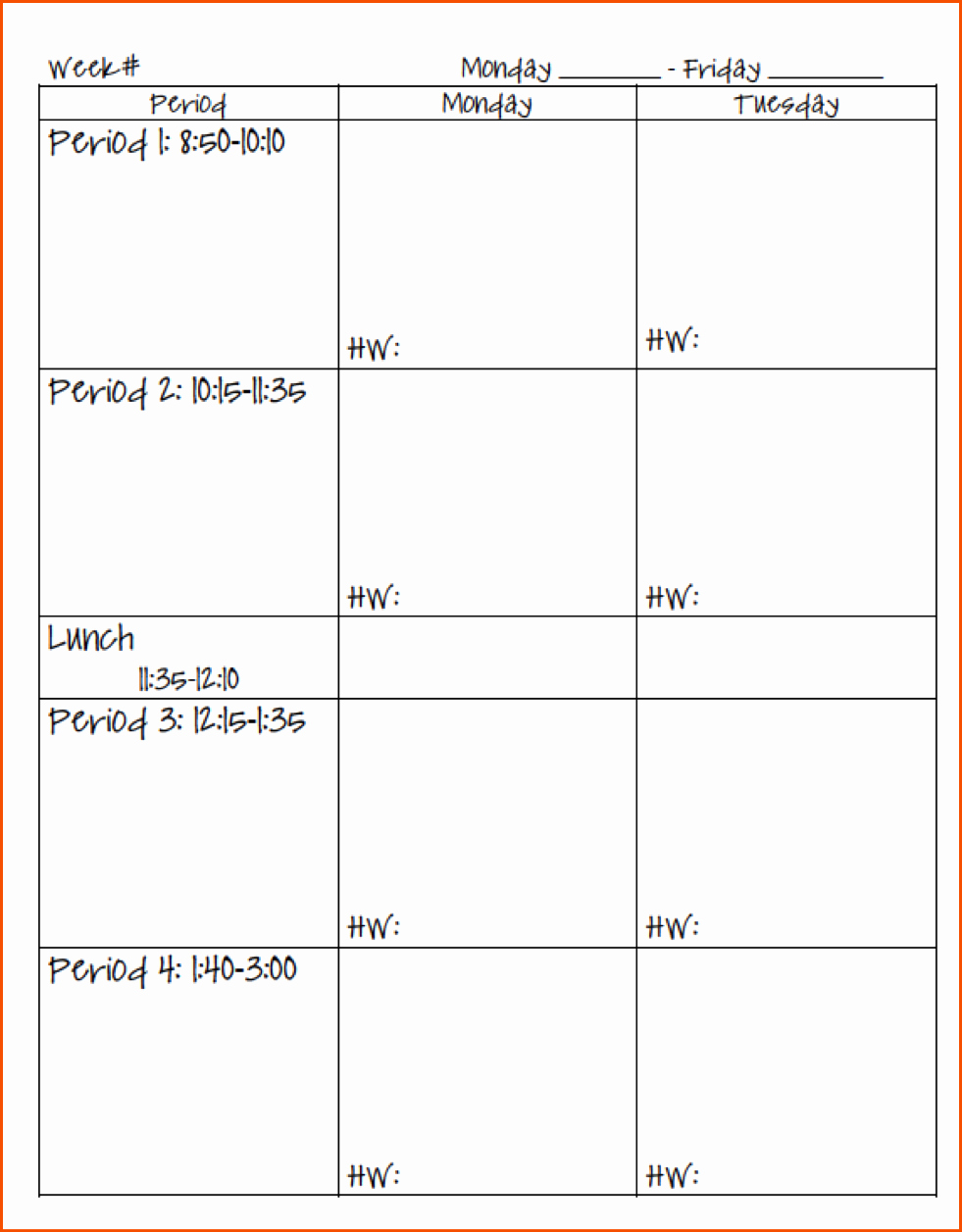 Teacher Daily Schedule Template Inspirational 8 Teacher Planner Template Bookletemplate