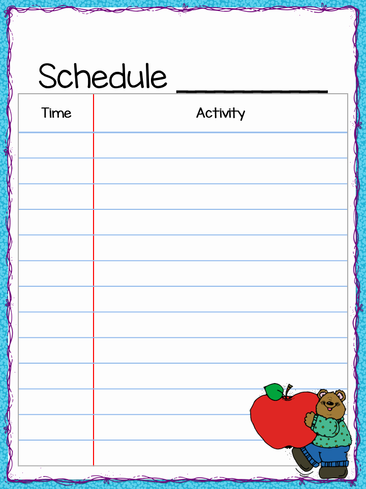 Teacher Daily Schedule Template Unique Class Schedule Freebie Teacher by the Beach