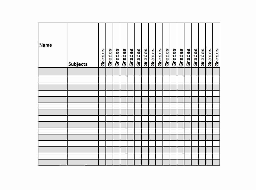 Teacher Grade Book Template Awesome 30 Free Gradebook Templates Template Archive