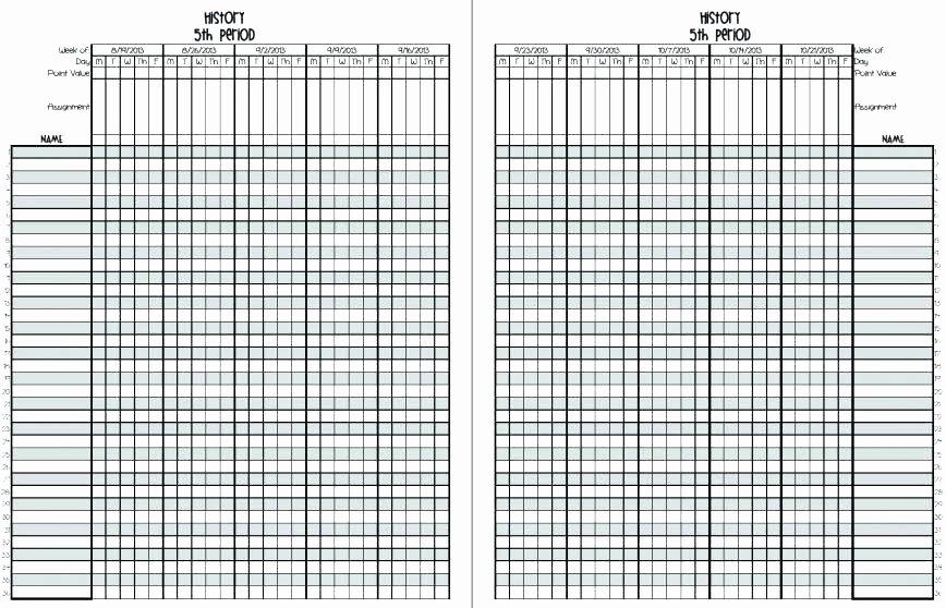 Teacher Grade Book Template New Printable Teacher Grade Sheet Free Sheets Template Excel