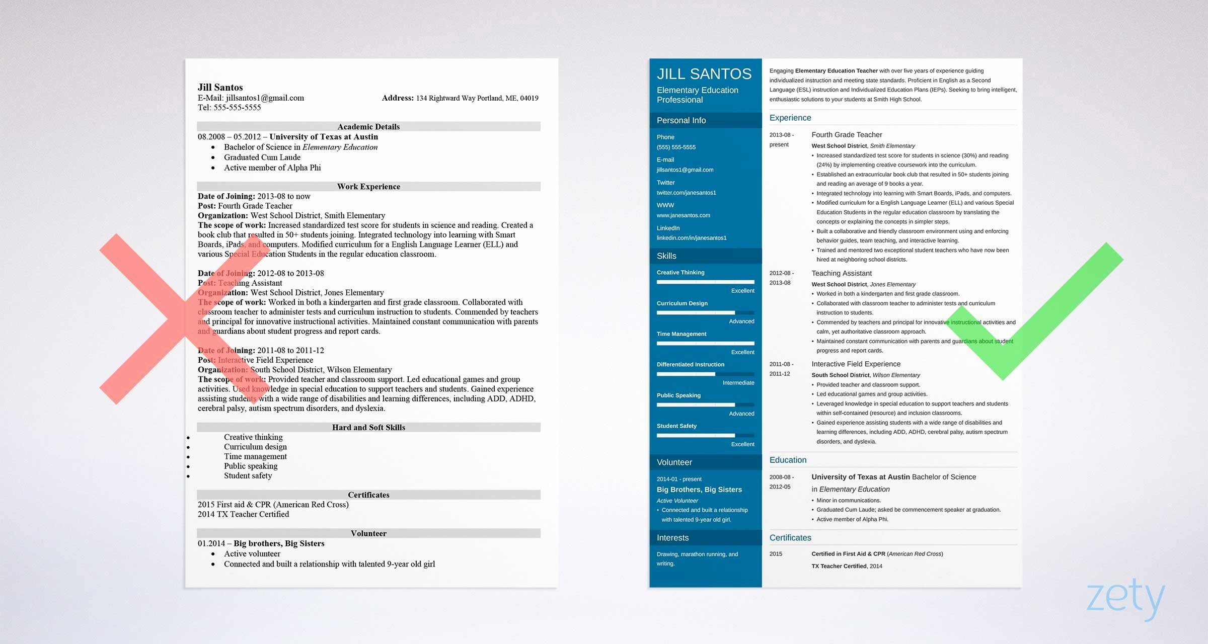 Teacher Resume Template Free Luxury Teacher Resume Template & Guide 20 Examples for Teaching