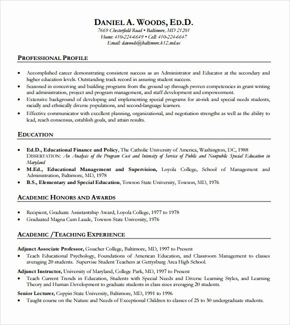 Teacher Resume Template Word Awesome 10 Sample Teacher Resume Templates to Download