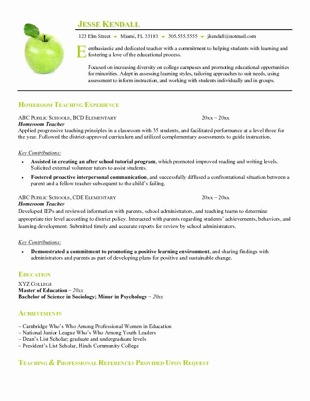 Teacher Resume Template Word Awesome Teacher Resume Examples Substitute Teacher Resume Summary