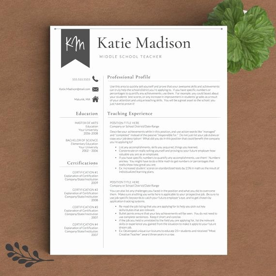 Teacher Resume Template Word Best Of Teacher Resume Template for Word & Pages 1 3 Page Resume