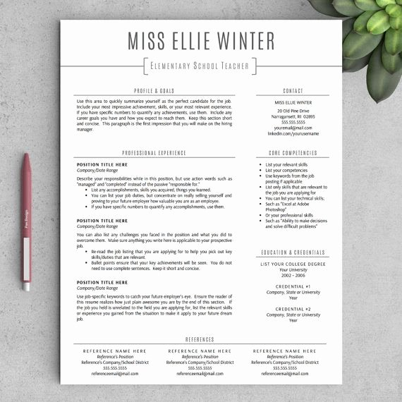Teacher Resume Template Word Inspirational Best 25 Teacher Resume Template Ideas On Pinterest