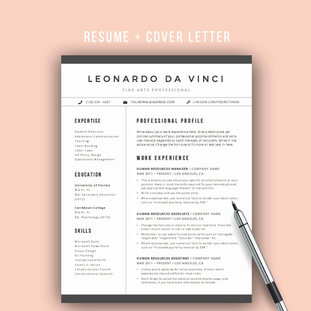 Teacher Resume Template Word Unique Teacher Resume Template Word 4 Pages Resume Icons Cv