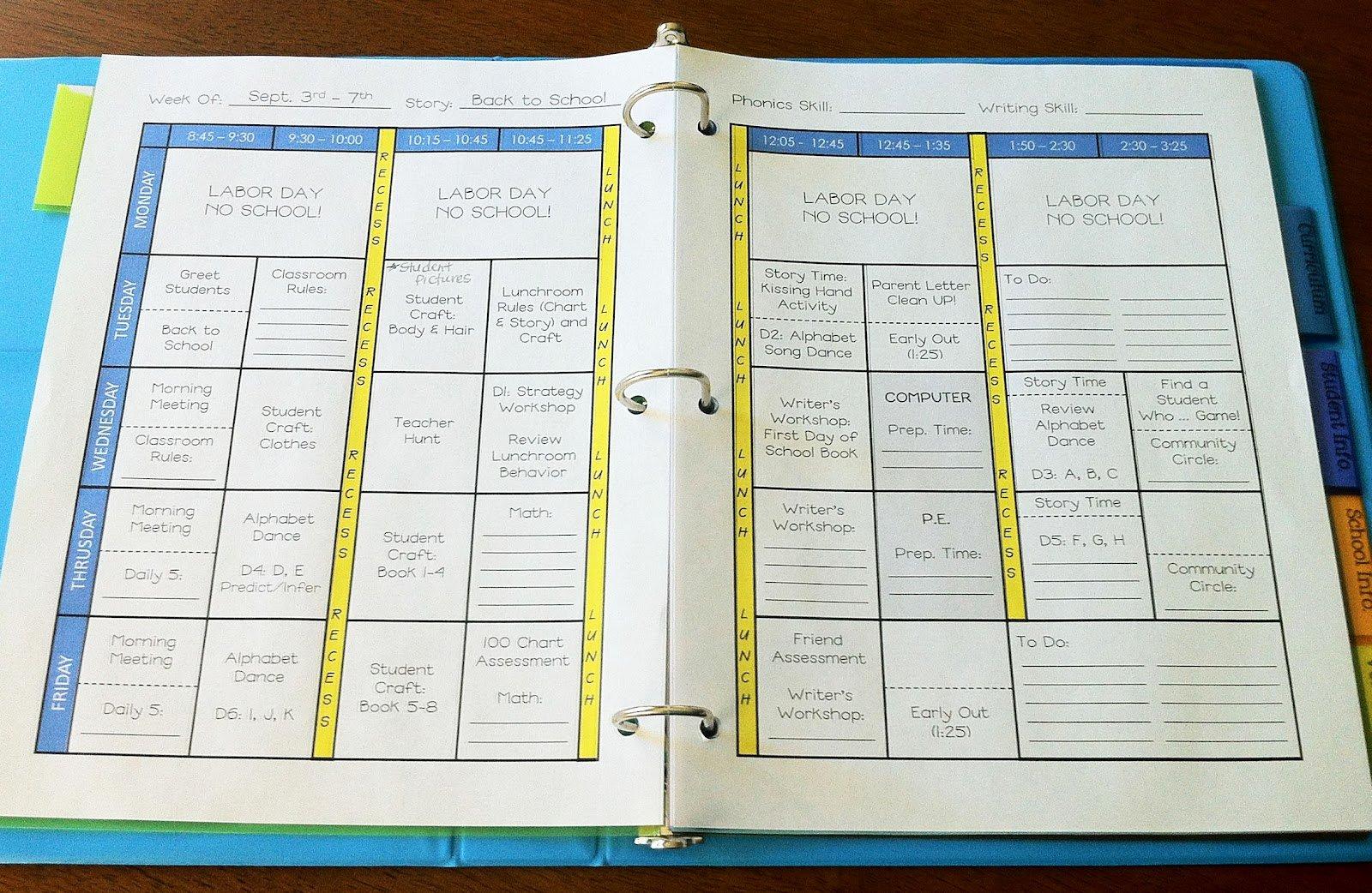 Teacher Weekly Planner Template Beautiful the Teacher Wife How to Create Your Own Teacher Binder