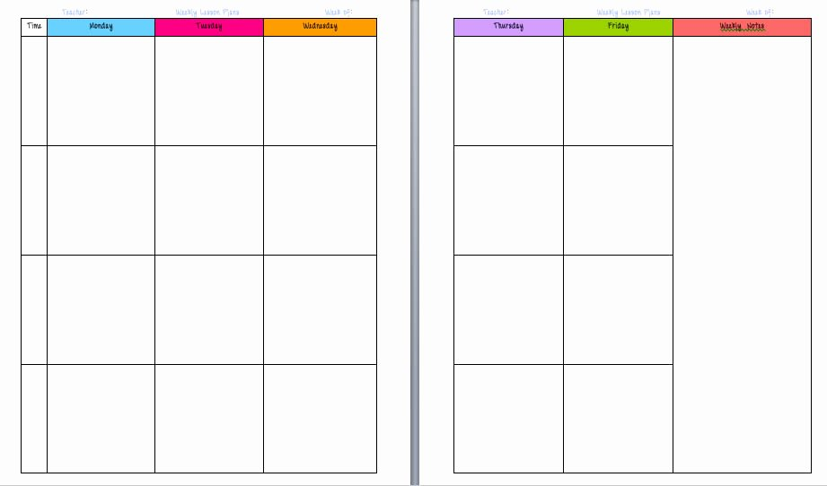 Teacher Weekly Planner Template Best Of Free Printable Calendars for Teachers Calendar Template 2018