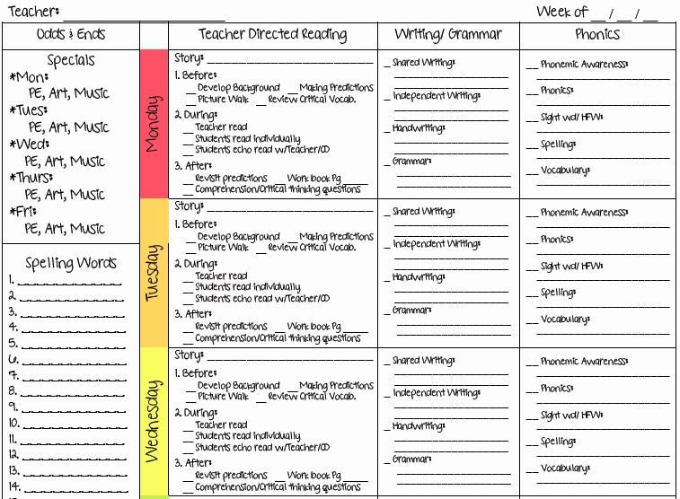Teacher Weekly Planner Template Elegant A Teacher S Plan Two New Lesson Plan Templates