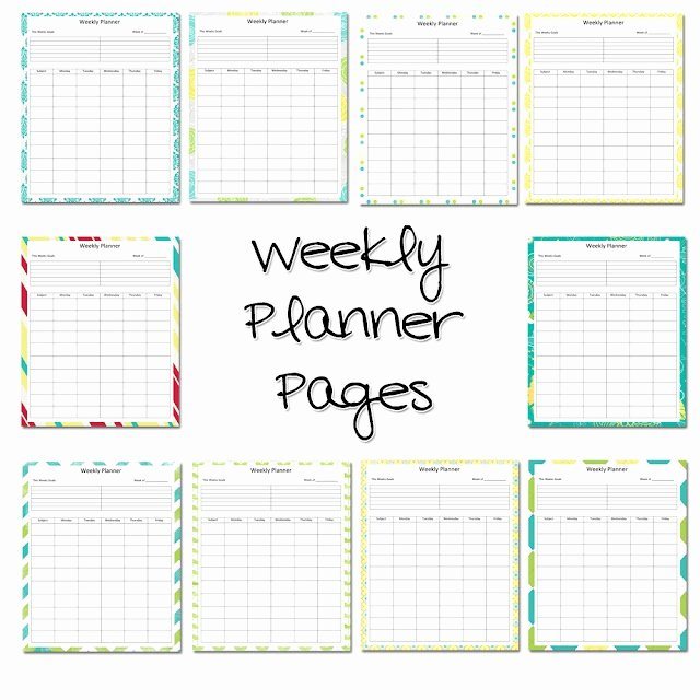 Teacher Weekly Planner Template Fresh Best 25 Teacher Planner Free Ideas On Pinterest