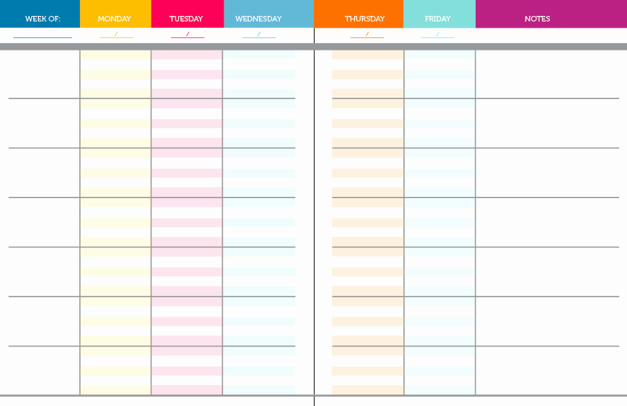 Teacher Weekly Planner Template Inspirational 6 Best Of Teacher Planning Free Printable Pages
