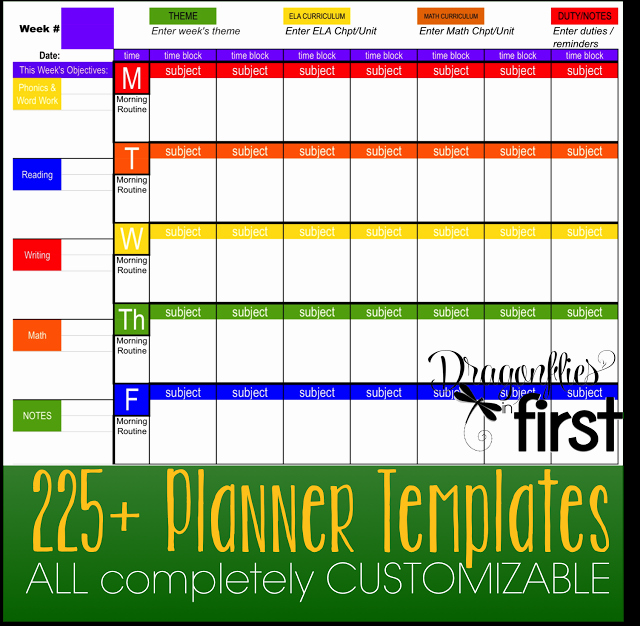 Teacher Weekly Planner Template Inspirational How to Customize Your Teacher Planner the Ultimate