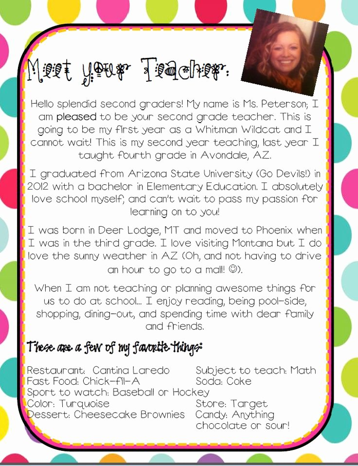 Teacher Welcome Letter Template Best Of Elementary Teacher Introduction Letter