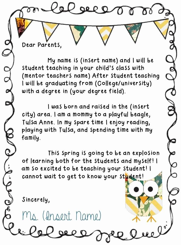 Teacher Welcome Letter Template Elegant 25 Best Ideas About Kindergarten Newsletter On Pinterest