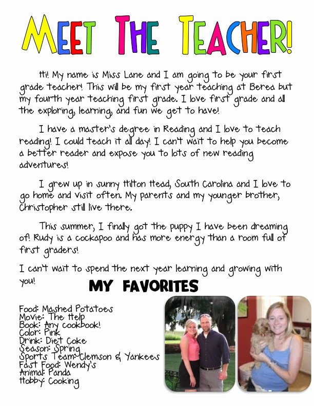 Teacher Welcome Letter Template Fresh Laughing with Lane Currently and Back to School Freebie