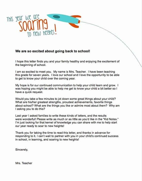 Teacher Welcome Letter Template Fresh Teacher Templates Letters Parents