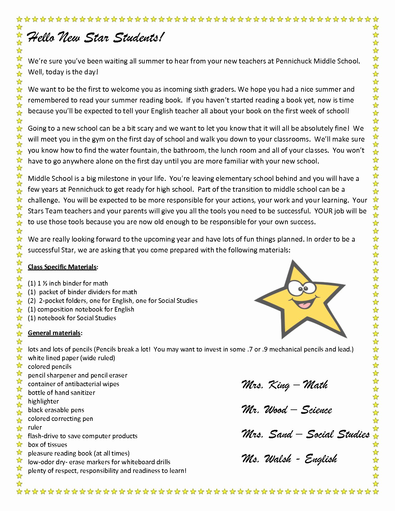 Teacher Welcome Letter Template New Teacher Wel E Letter to Parents Template Download