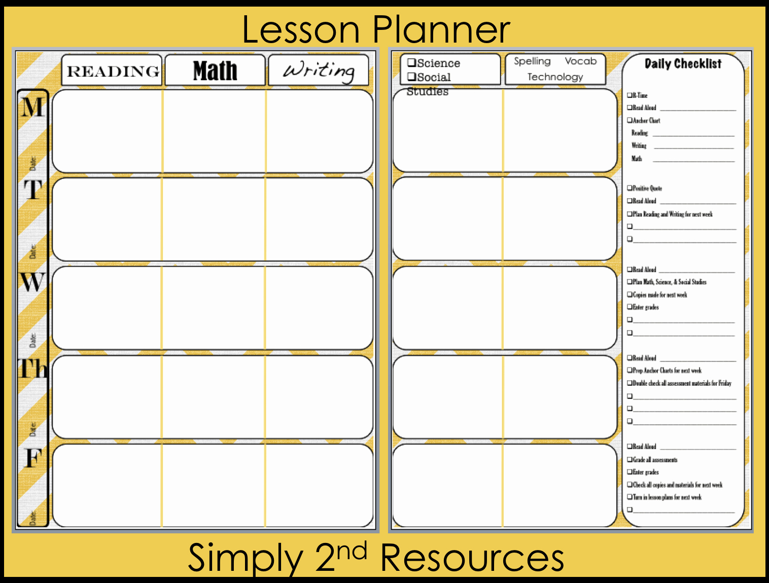Teachers Planning Book Template Elegant Lesson Plan Book Template Printable