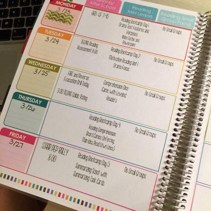 Teachers Planning Book Template Lovely Digital Teacher Planner Editable Lesson Plan Template by