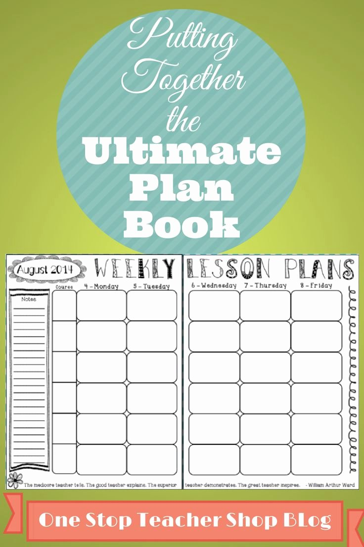 Teachers Planning Book Template Luxury 314 Best Images About Lesson Plans On Pinterest