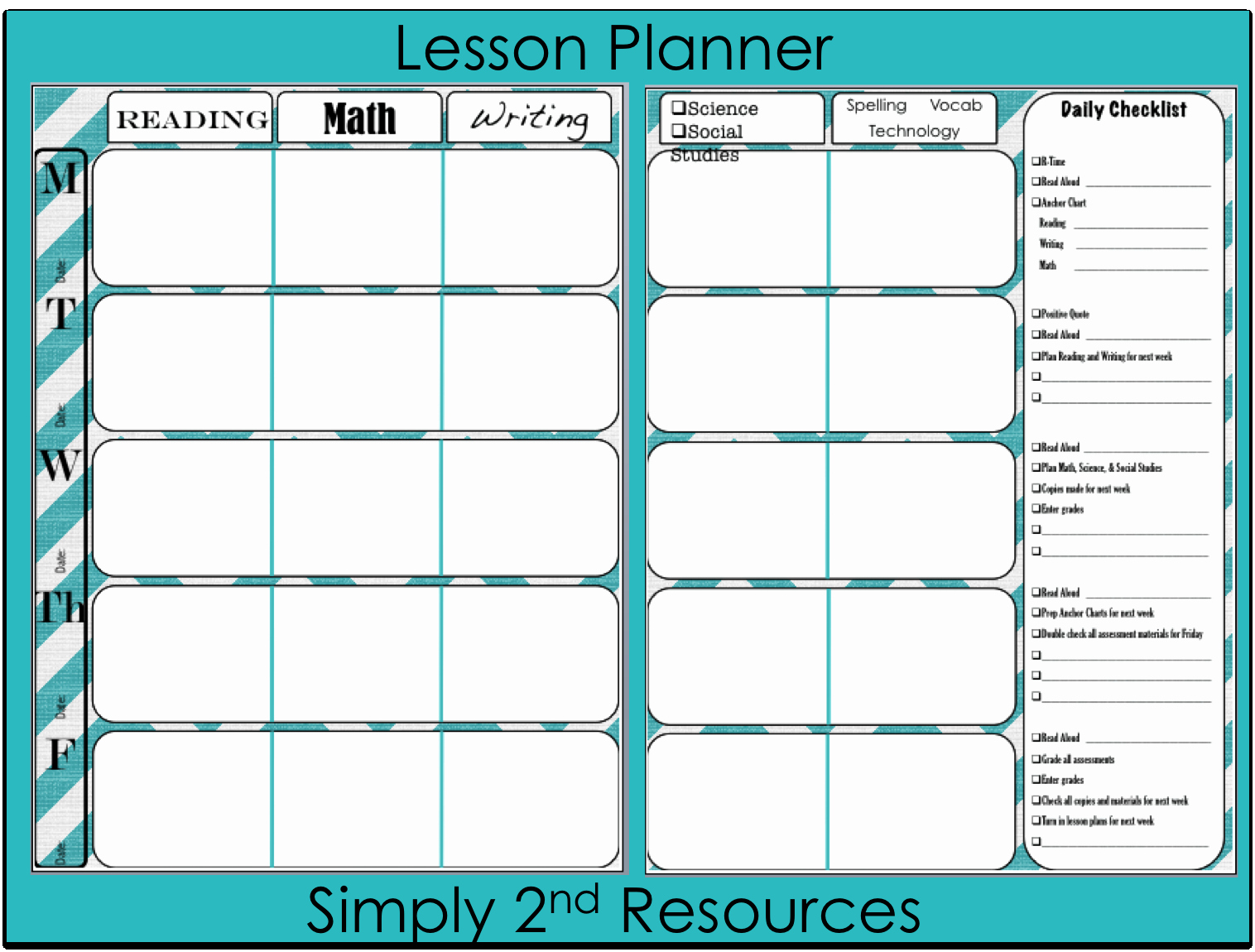 Teachers Planning Book Template Luxury Teacher Plan Book Printable Printable 360 Degree