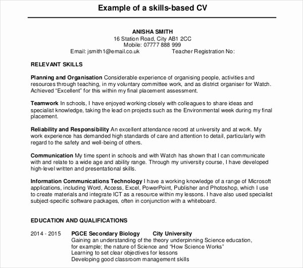 Teaching Curriculum Vitae Template New 10 Teaching Curriculum Vitae Templates Pdf Doc