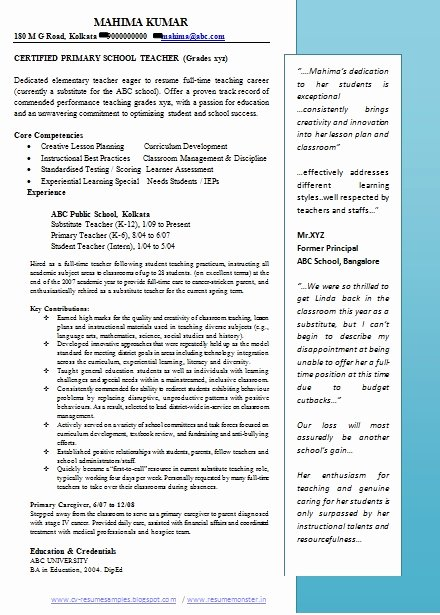 Teaching Curriculum Vitae Template Unique Teacher Resume Doc Best Resume Collection