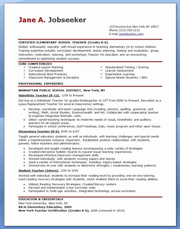 Teaching Resume Template Free Elegant Hipster Resume for Elementary Teacher Resumes