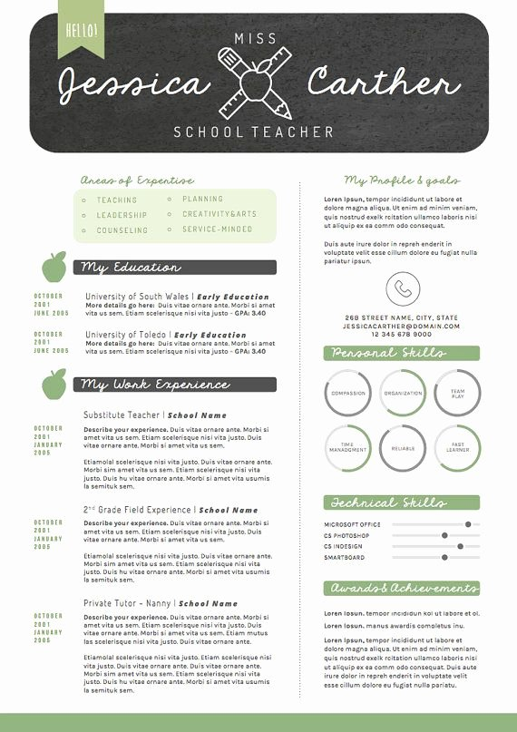 Teaching Resume Template Free New 25 Best Ideas About Cover Letter Teacher On Pinterest